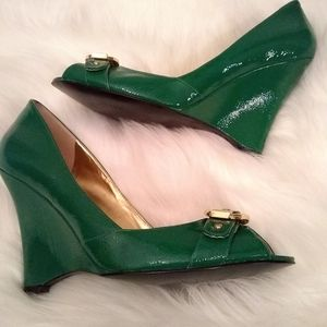 Guess Shoes - Guess leather women's wedge heels sz 10m
